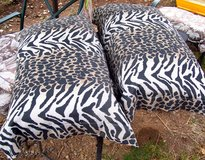 King Pillows (New) - 2 - with Leopard Print Shams in Alamogordo, New Mexico