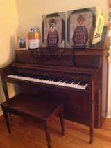 Upright Piano with piano bench in Lockport, Illinois