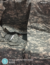 3 sets of ACU large long brand new and field jacket in Fort Carson, Colorado