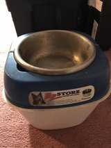 Raised Dog Bowl & Storage in Fort Carson, Colorado