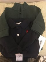 Price Reduced!! NWT 3 months Ralph Lauren Baby Boy Sweater and Long Sleeve Onesie in Dover, Tennessee