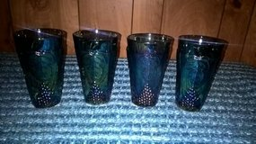 COLLECTIBLE GRAPEVINE CARNIVAL GLASS TUMBLER GLASSES(SET OF 4 in Keesler AFB, Mississippi
