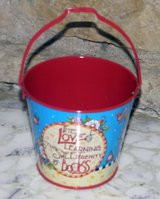 "2001 Mary Engelbreit The Love of Learning 3-1/2"" Small Tin Pail/Bucket Retired in Palatine, Illinois"