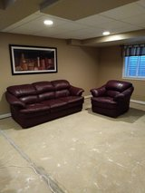 Leather Couch and Chair in Joliet, Illinois
