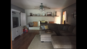 Sectional couch and ottoman in Beaufort, South Carolina
