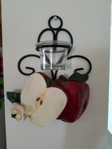 Apple wall decoration with candle holder in Watertown, New York