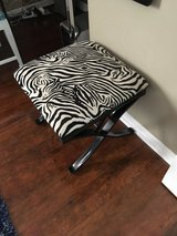 Zebra stool bench in St. Charles, Illinois
