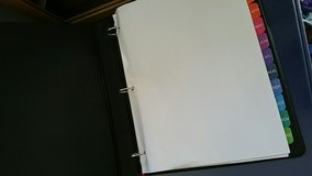 "New binders, 1.5"", school supplies, back to school, binders with cover sleeves, black, blue, or ... in Elgin, Illinois"