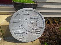 Pelican Concrete Stepping Stone in Cherry Point, North Carolina