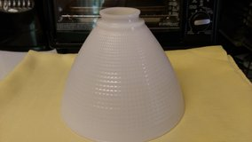 Vintage milk glass shade in Perry, Georgia
