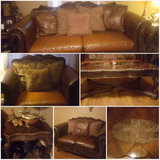 Ashley leather living room set in Madisonville, Kentucky