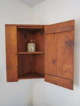 Handcrafted Pine Early American Style Corner Cabinet in Yucca Valley, California