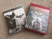 PS3 Set of 2 Batman Games in Batavia, Illinois