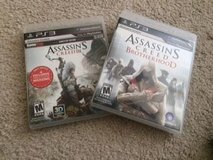 PS3 Set of 2 Assassins Creed Games in Batavia, Illinois