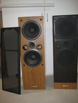 Pioneer Cs-j525 Twin Woofer System  Wood Speakers 150 Watt 8 Ohm.Made in the USA in Sugar Grove, Illinois