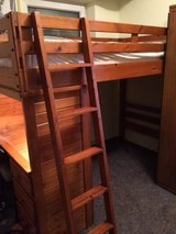 Awesome Wooden Bunk Bed with Desk!!! Twin over Full!! in Ramstein, Germany