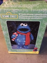 Cookie Monster Christmas decoration in Cherry Point, North Carolina