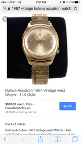 Men's vintage 1967 boluva accutron watch in Beaufort, South Carolina