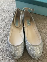 Betsey Johnson Bridal Flats Sz 8--Very Good condition in Travis AFB, California