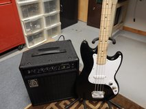 Fender Squire Base Guitar and Ampeg Amp 20 W $150.00 in Yorkville, Illinois