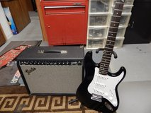Fender Squire Guitar & Fender Stage 100 Amp With Pedal $175.00 in Bolingbrook, Illinois