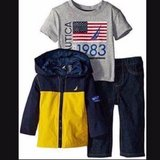 New with tag Baby/Toddler Boy Nautica 3 Piece Set: Jeans, Windbreaker Jacket, T-shirt, size 18m in Bartlett, Illinois