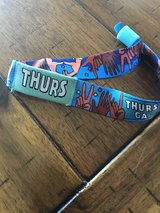 Lollapalooza Thursday wristband in Joliet, Illinois