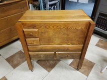 Antique Oak File Box on Castors in Fort Leonard Wood, Missouri