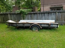 Hauling Trailer 4'x12' Ramp Metal Weld Construction Equipment Mowing Lawn Service Handyman Floor... in Kingwood, Texas