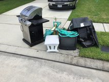Free Gas Grill, small TV, bike ramps, swing set items, and outoman etc in Houston, Texas