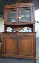 antique 2 ART NOUVEAU dining room hutch - ideal project piece in Ramstein, Germany