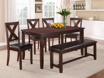 "BRAND NEW! ""URBANO"" COLLECTION 7PC DARK SOLID HEAVY WOOD DINING SET!! in Camp Pendleton, California"