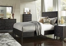 BRAND NEW! UPSCALE SOLID DISTRESSED WOOD QUEEN BED SET! MY M. INTERNATIONAL! in Camp Pendleton, California