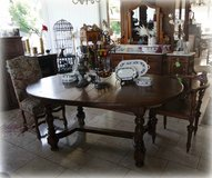 rustic oval table with 2 extensions in Stuttgart, GE