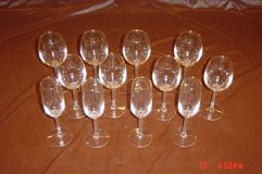 12 Piece Matching Gold Rimmed Crystal Stem Ware in Lockport, Illinois