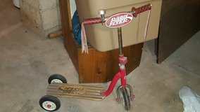radio flyer scooter with wooden foot board in Plainfield, Illinois