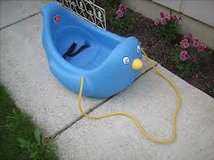 step 2 toddler penguin sled rare in Plainfield, Illinois