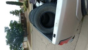 Set of 4 used truck toyo AT tires in Fort Bliss, Texas