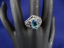 925 Silver Marcasite & Blue Gemstone Ring in Houston, Texas