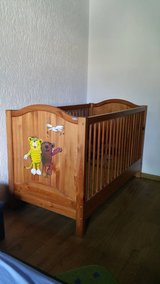 German Crib and Changing Table in Wiesbaden, GE