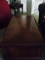 Wood coffee table and side table in Kingwood, Texas