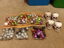 Halloween craft stuff glitter balls and skulls in Oswego, Illinois