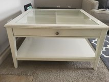 IKEA coffee table w/glass top (white) in Fort Campbell, Kentucky