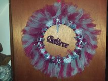 handmade tulle wreath in Oswego, Illinois