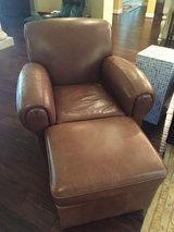 Leather Club Chair with ottoman in Houston, Texas