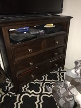 3 drawer wood dresser/media stand in 29 Palms, California