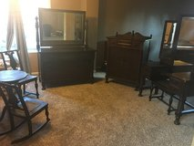 Antique mahogany bedroom set in Fort Carson, Colorado