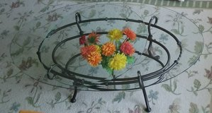 Iron Coffee Table with 2 high quality Glass Top in Minneapolis, Minnesota