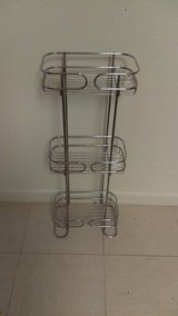 Metal three tier shelf in Cannon AFB, New Mexico