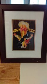 Framed Beer Art in Cannon AFB, New Mexico